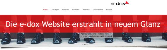 Die e-dox Website erstrahlt in neuem Glanz