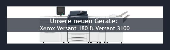 Neue Geräte von Xerox: Versant 180 & Versant 3100