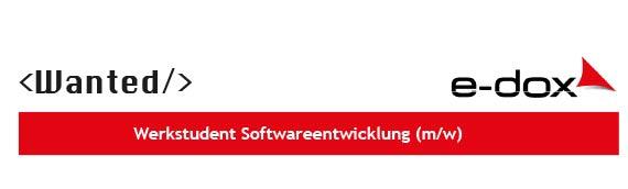 Wir suchen dich! Werkstudent für Softwareentwicklung bei e-dox