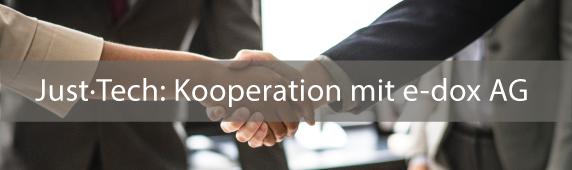 Just·Tech: Kooperation mit e-dox AG