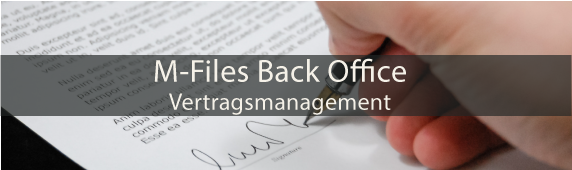 M-Files Back Office – Vertragsmanagement