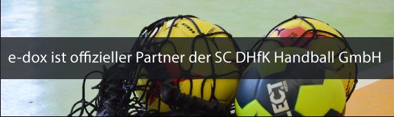 e-dox ist offizieller Partner der SC DHfK Handball GmbH