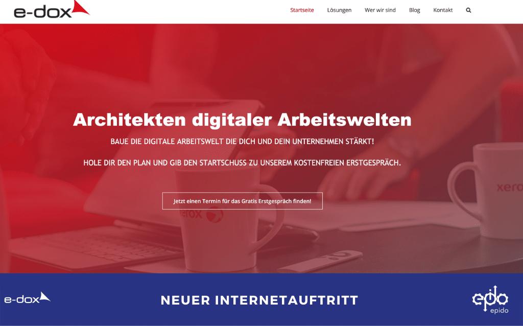 Unsere Internetseite ist brandneu
